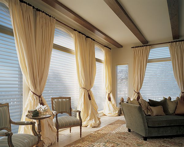 Window treatment curtains decoist Drapery treatments ideas