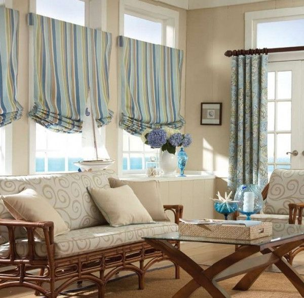 window treatment roman curtain Quick and Easy Window Treatment Ideas on the Cheap