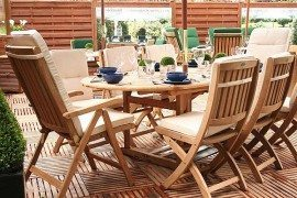 wooden deck & table