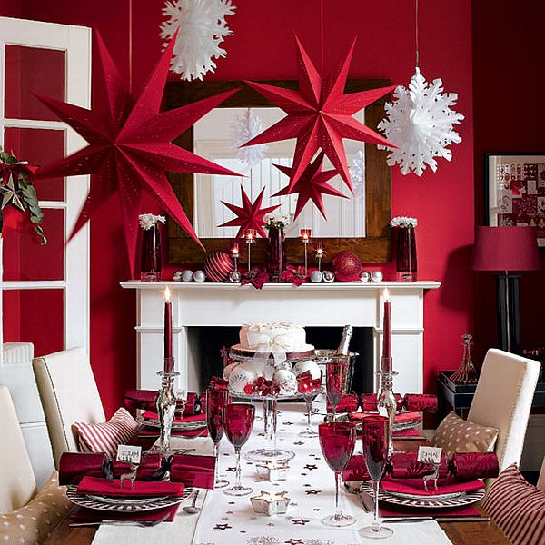 Christmas table decorations party favors ideas for Christmas dining room table decorations