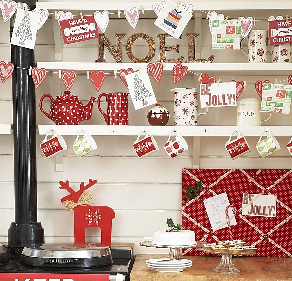 View In Gallery Colorful Christmas Kitchen Idea