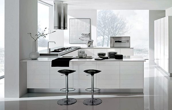 Contemporary White Kitchen Design Kitchen Color Schemes: 14 Amazing Kitchen Design Ideas