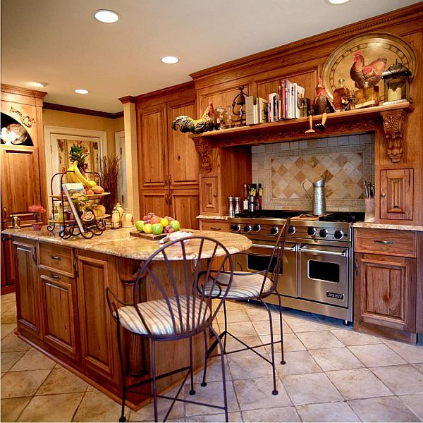 Country style kitchen traditionally modern for Country kitchen home plans
