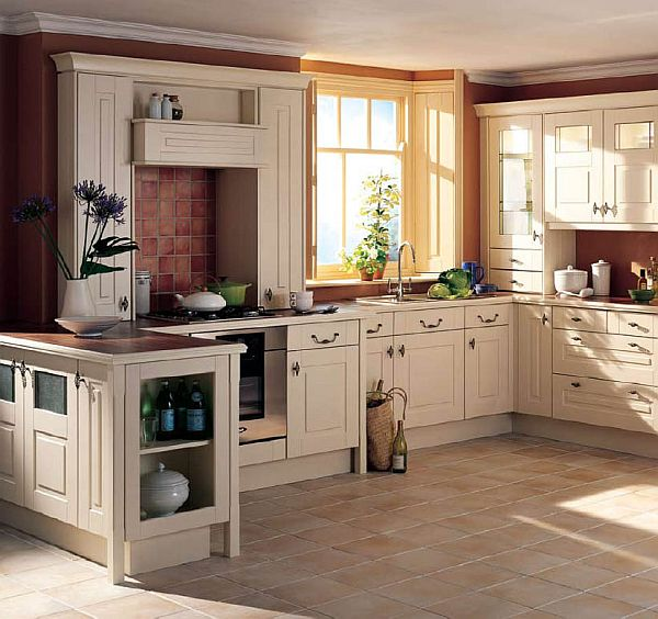 Country style kitchen traditionally modern for Country themed kitchen ideas