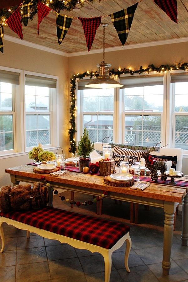 Cozy Christmas kitchen idea