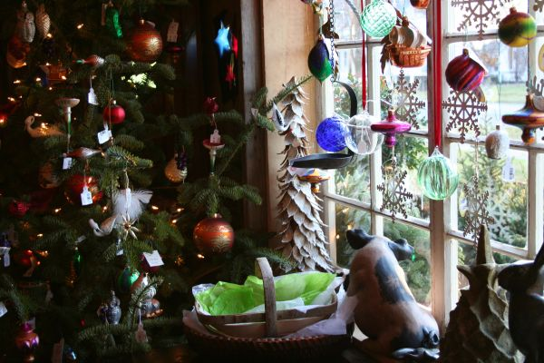 Decorate with hand blown glass ornaments