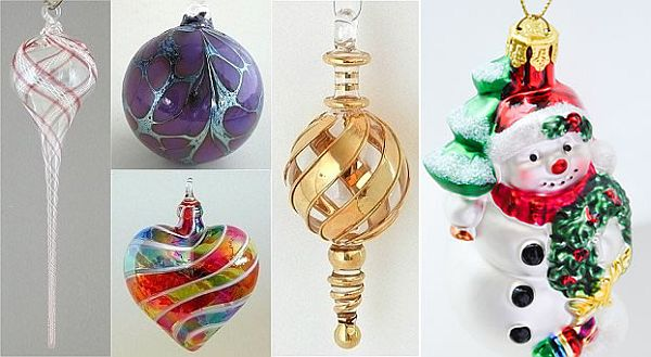 Unique hand blown christmas ornaments - Decoration murale pour noel ...