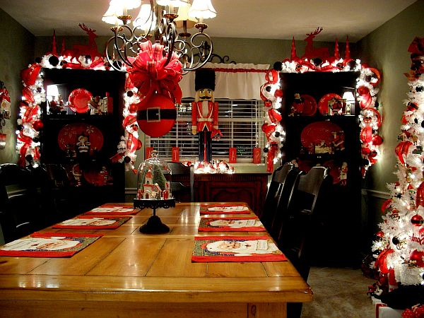 Christmas kitchen decoration ideas curtains tablecloth for Decoration maison walmart