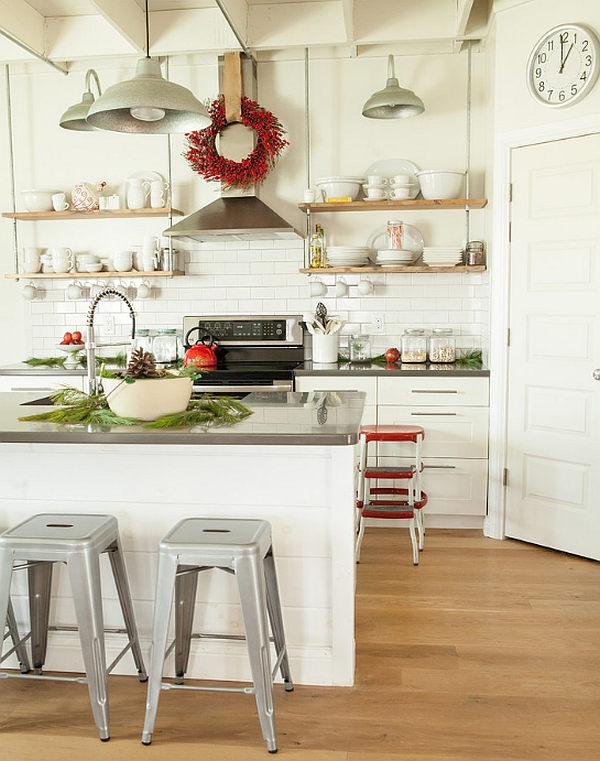 Kitchen Christmas decorating idea