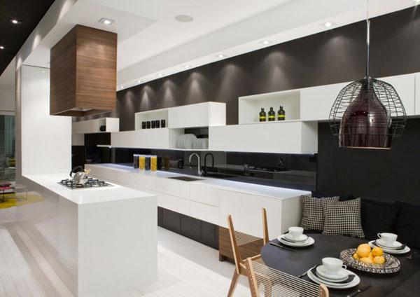 Contemporary model homes