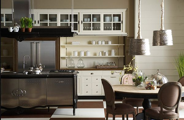 Painted Kitchen Cabinets With A Country Style Brown Sugar