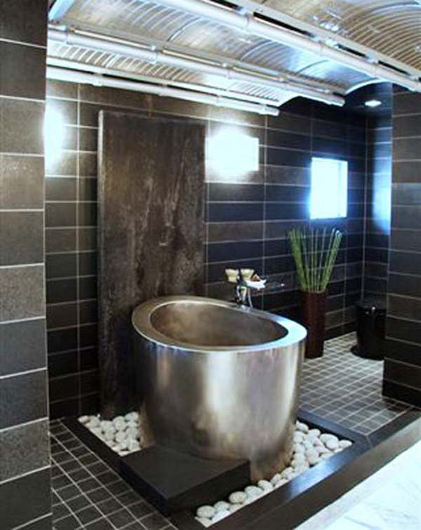 Modern Japanese Bathtub by Diamond Spas Ofuro Tubs Have the Power to Heal