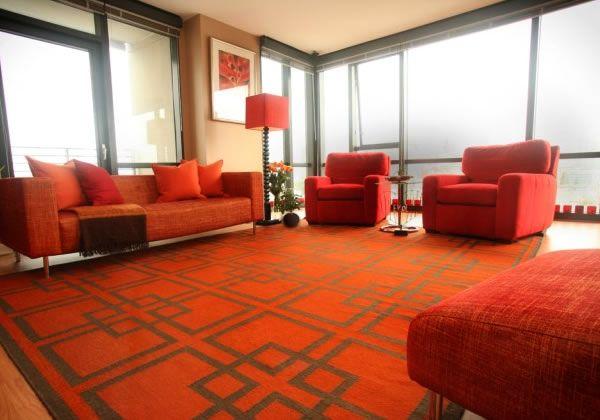 Tangerine Tango Living Room