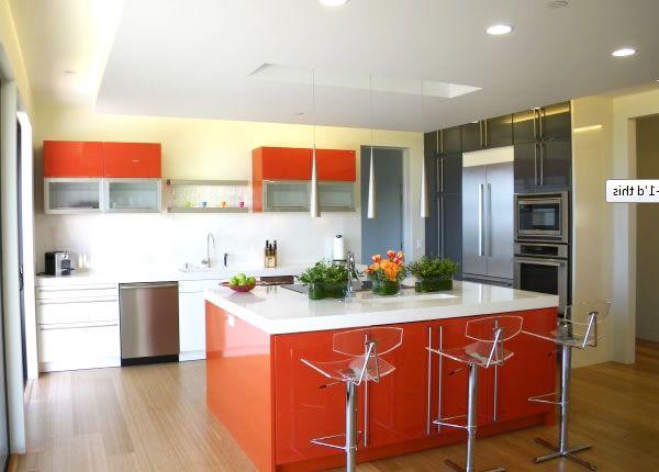 Tangerine Tango modern kitchen