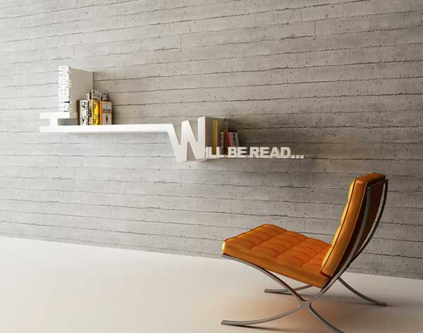 Target Book Shelf by Mebrure Oral 1 Target Book Shelf by Mebrure Oral Features Typographical Organizing