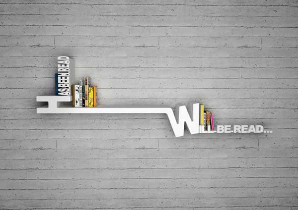 Target Book Shelf by Mebrure Oral 2 Target Book Shelf by Mebrure Oral Features Typographical Organizing