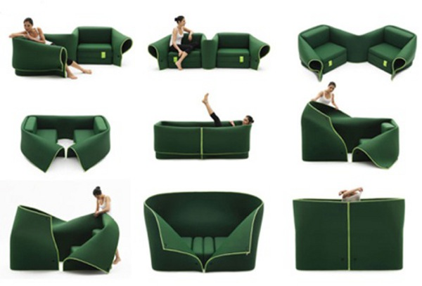 Convertible furniture doing multi tasking for Muebles la fabrica sofas