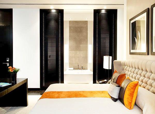 coloured bedroom
