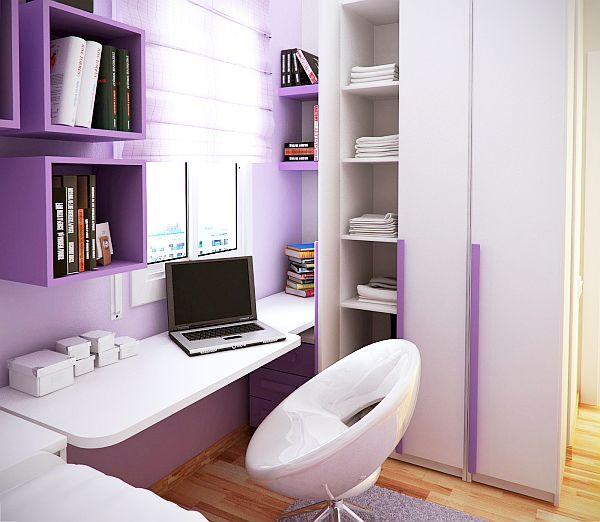 contemporary kids room purple