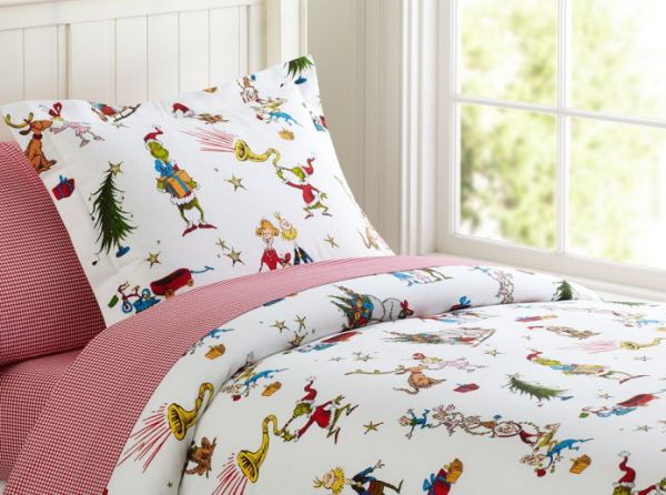 grinch bedding from pottery barn!