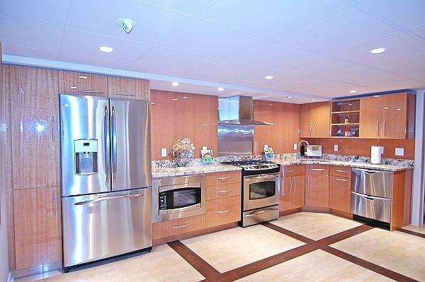 stainless-steel-kitchen-with-wooden-cabinets