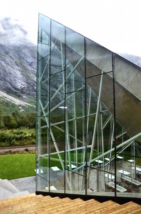 trollwall restaurant reiulf ramstad architects 2 Majestic architecture inspired by mountains: Trollwall Restaurant and Service