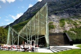 Majestic architecture inspired by mountains: Trollwall Restaurant and Service