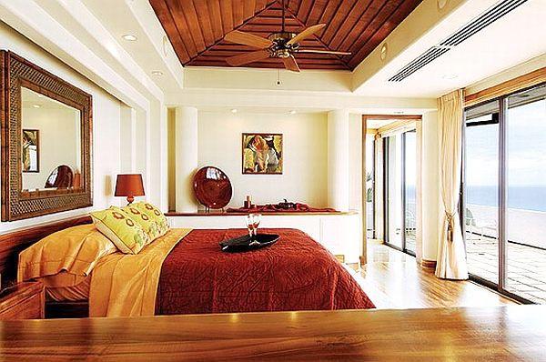 uncluttered colorful bedroom