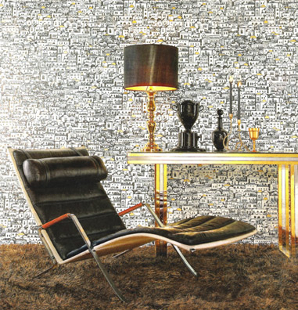 urban wallpaper cole and son 7 Pep Up Your Walls with Fornasetti Wallpapers