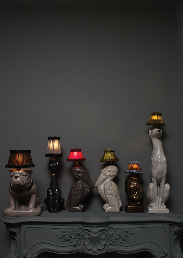 Animal Lamps by Atelier Abigail Ahern 1 Animal Inspired Lamps Exude Glamor