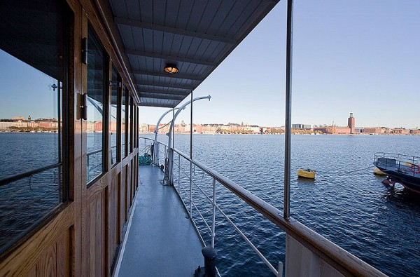 Barge House 22 Barge Converted to a Floating House in Stockholm