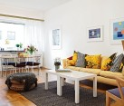Bright Cozy White Furnished Apartment 1