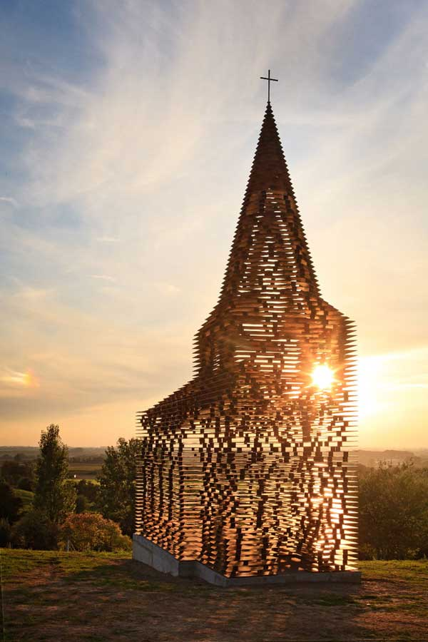 Church by Gijs Van Vaerenbergh 2 Disappearing church going rituals captured in a Transparent Church