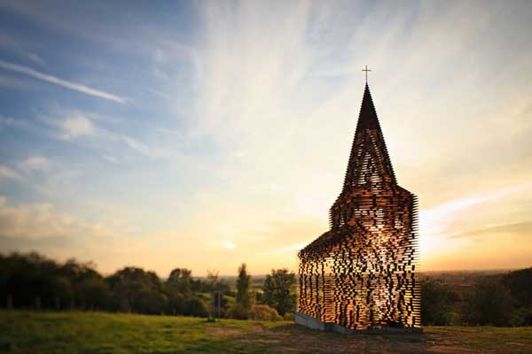 Church by Gijs Van Vaerenbergh Disappearing church going rituals captured in a Transparent Church