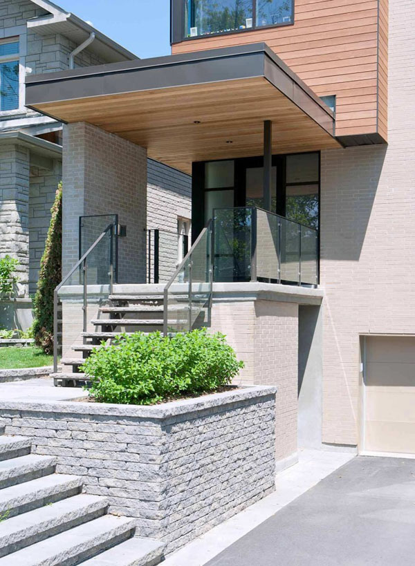 Contemporary Fraser Residence in Westboro Village 11 Fraser Residence in Ottawa Looks Like Closely Bound Volumes Stacked Together