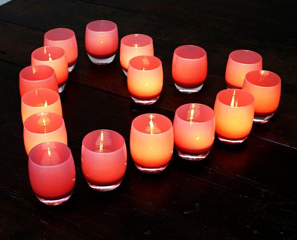 DIY Heart Shape Candles