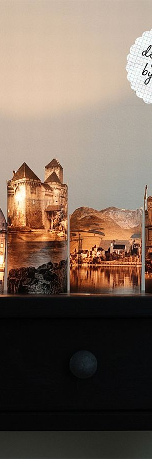 DIY Photo Lamps Castles