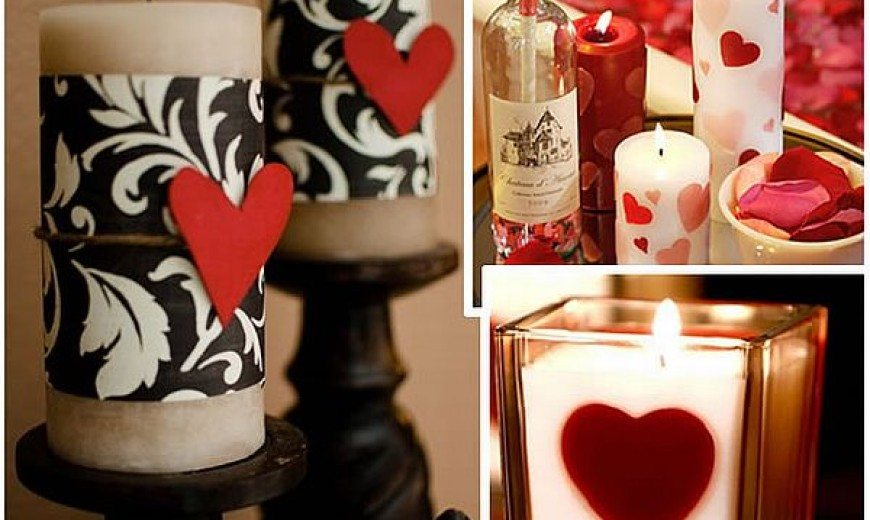 DIY Valentine's Day Candles Look & Are Special