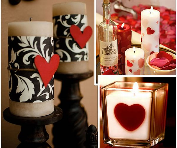 DIY Valentines Day Candles
