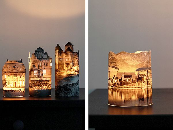 DIY lit photo lamp
