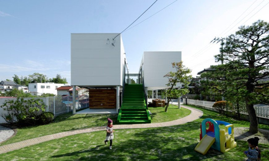 Multi-functional double volume KKC House encouraging outdoor activities
