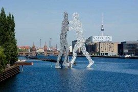 Stunning NHow Hotel in Berlin overlooking the Molecule Man