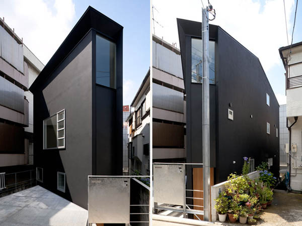 Narrow Japanese home with voluminous interiors 2