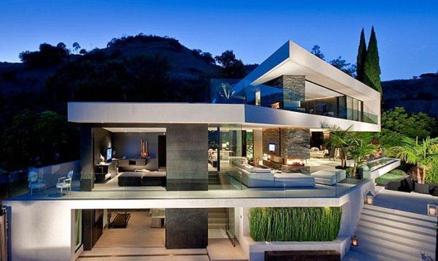 Minimalist Openhouse Design in Hollywood Hills, California