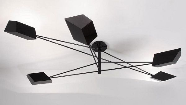 Origami Chandelier Sleek Furniture from the House of Pouenat Ferronnier
