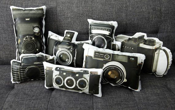 Printed Canvas Pillows 1 Printed Canvas Pillows Feature Vintage Camera Designs