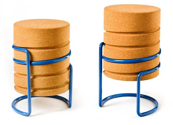 SCRW Stool by Manuel Welsky Comfortable, light and modern: SCRW Stool by Manuel Welsky
