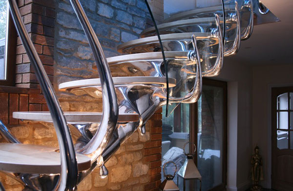 Sci Fi Sculptural Staircase 1 Sci Fi Sculptural Staircase is Amazing