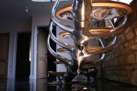 Sci-Fi Sculptural Staircase is Amazing