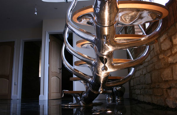 Sci Fi Sculptural Staircase 3 Sci Fi Sculptural Staircase is Amazing
